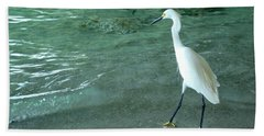 Egret Under Bridge Beach Sheet