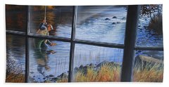 Fly Fisher Beach Towel