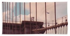 Fly Over Brooklyn  Beach Towel