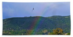 Fly Over The Rainbow Beach Towel