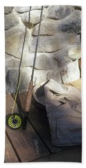 Fly Rod And Vest Beach Towel
