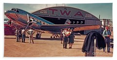 Fly Twa The Lindberg Line By Henry Bosis Beach Sheet