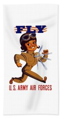 Fly - Us Army Air Forces Beach Towel