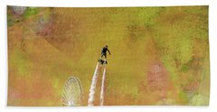Flyboard, Sketchy And Painterly Beach Towel