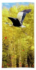 Flying Against The Wind Beach Towel