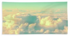 Beach Towel featuring the photograph Flying by Delphimages Photo Creations
