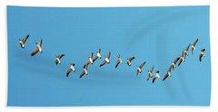 Flying Geese Beach Towel