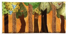 Flying In The Forest Beach Towel