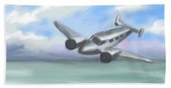 Beach Towel featuring the painting Flying Low by Jean Pacheco Ravinski
