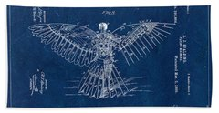 Flying Machine 1889 - Blue Beach Towel