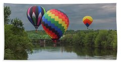 Flying Over The Androscoggin Beach Towel