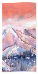 Flying Over The Mountains Beach Towel