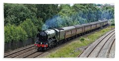 Flying Scotsman Approaching Chesterfield Beach Towel