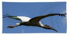 Flying Stork-no Baby Beach Towel