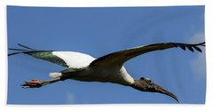 Flying Stork-no Baby Beach Sheet
