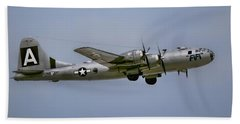 Flying Superfortress Beach Sheet by Pat Cook