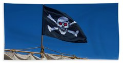 Flying The Black Flag Beach Towel