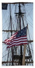 Beach Towel featuring the photograph Flying The Flags by Dale Kincaid