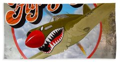 Flying Tigers Beach Towel