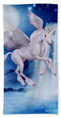 Flying Unicorn Beach Towel