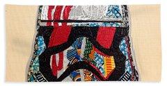 Storm Trooper Fn-2187 Helmet Star Wars Awakens Afrofuturist Collection Beach Towel