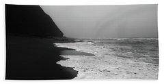 White Foam Beach Sheet by Edgar Laureano