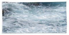 Foamy Water In Motion Beach Towel