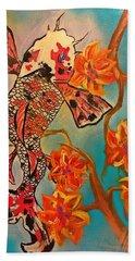 Focus Flower  Beach Sheet by Miriam Moran
