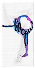 Focus Yoga Art Beach Towel