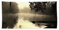 Fog And Light In Sepia Beach Towel