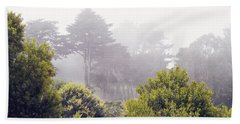 Beach Towel featuring the photograph Fog At Lands End by Cindy Garber Iverson