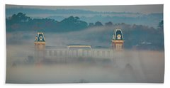 Fog At Old Main Beach Towel by Damon Shaw