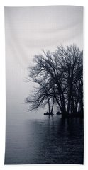 Fog Day Afternoon Beach Towel