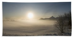 Beach Sheet featuring the photograph Fog In Lofoten 1 by Dubi Roman