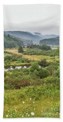 Beach Towel featuring the photograph Fog In The Adirondacks by Sue Smith