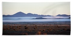 Fog In The Peloncillo Mountains Beach Sheet