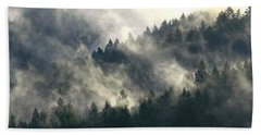Beach Towel featuring the photograph Fog Moving Through The Hills by Katie Wing Vigil