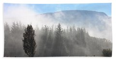 Fog On The Road To Fintry Beach Towel