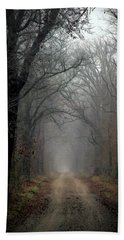Fog Shrouded Lane  7861 Dp_2 Beach Towel
