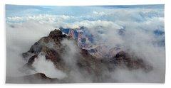 Fog Shrouded Vishnu Temple  Beach Sheet
