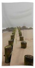 Fog Sits On Bay Head Beach - Jersey Shore Beach Sheet