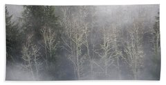 Foggy Alders In The Forest Beach Towel