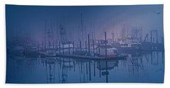 Foggy Bay Front Beach Towel