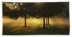 Foggy Burst Of Morning Beach Towel