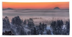 Foggy Dawn Beach Towel