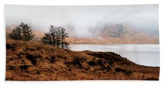 Foggy Day At Loch Arklet Beach Towel by Jeremy Lavender Photography