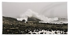 Foggy Day At The Coast Beach Sheet