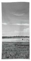 Foggy Day On A Marsh Beach Sheet