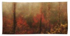Foggy Fall On The Parkway Beach Sheet
