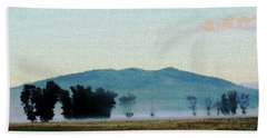 Foggy Field Beach Towel
